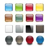 Fototapety Empty buttons