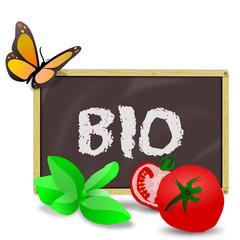 Tafel Bio mit Gemüse