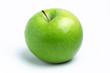 Apfel vor weißem Hintergrund