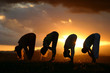 Patchimottanasana Yoga Silhouettes by the sun