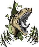 Sketch Doodle Raptor dinosaur Vector Illustration poster