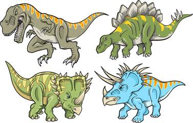 Dinosaur Vector Design Elements Illustration Set