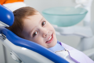 boy in the dental office