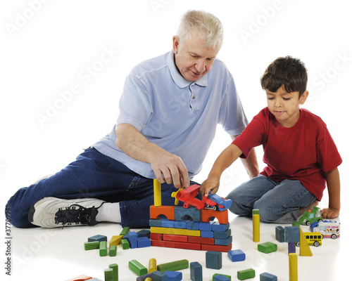 Floor Play with Grandpa