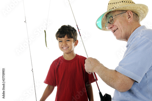 Grandpa Baits the Hook