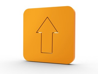 3d Icon Upload orange