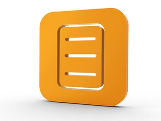 3d Icon Dokument orange