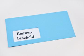 Rentenbescheid Briefumschlag