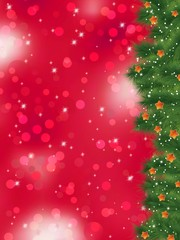 Thank you card on a bright christmas. EPS 8
