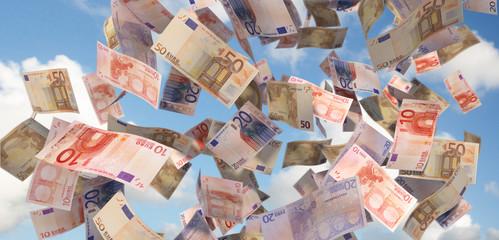 eurobills close up