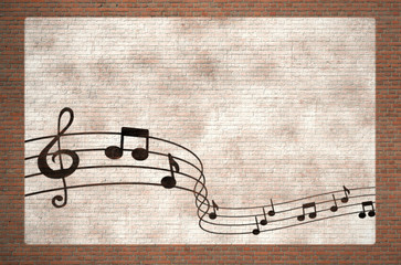 musical notes graffiti