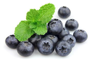 Sweet blueberry with fresh mint