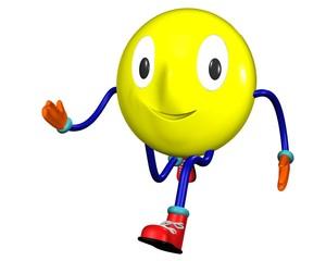 Running smile emoticon