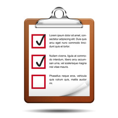 Icono clipboard 3D con checklist
