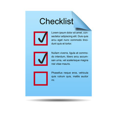 Icono documento 3D con checklist