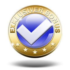 exklusiver bonus button gold 3d
