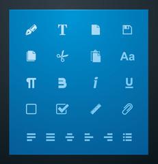 Universal glyphs 6. Text editing