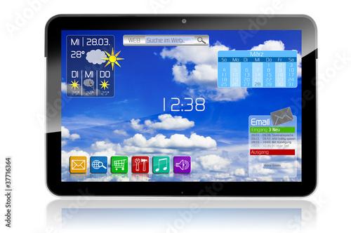 Tablet mit Apps und Widgets