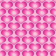 Pink Faceted Love Heart seamless background tile