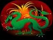 Drago Verde Cina-2012-Green Dragon China Background-Vector