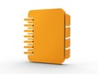 3d Icon Terminplaner orange