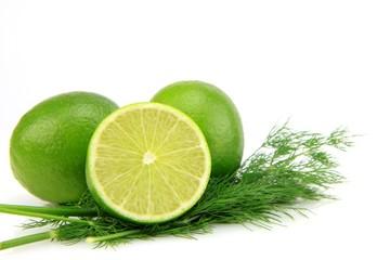 citron vert et bouquet d'aneth © papinou