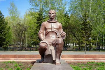 Monument to Yuri Gagarin in Komsomolsk-on-Amur