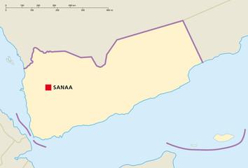 Jemen Sanaa Landkarte
