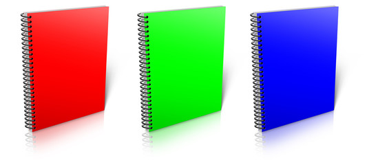Spiral RGB binder.