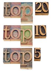 top 20, 10, 5