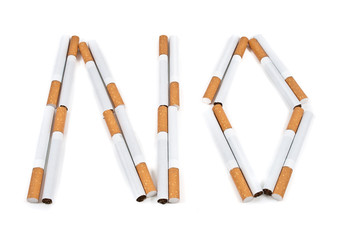 The text of cigarettes