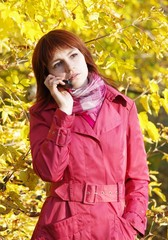 Portrait attractive sad woman with phone