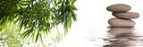 Fototapety bannière zen galets bambous