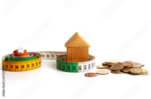 House  with measuring tape