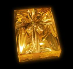 goldiges päckchen - weihnachtsgrüße