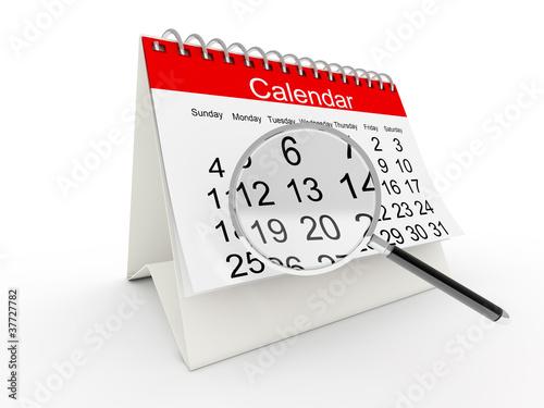 3D desktop calendar