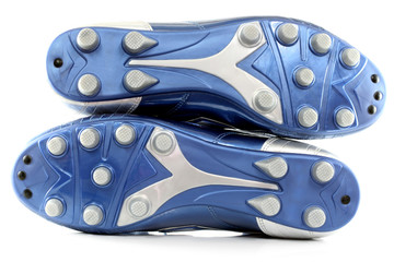 Blue Soccer (football) boots/shoes with 12 studs