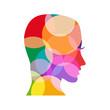 logo head colored # Vector