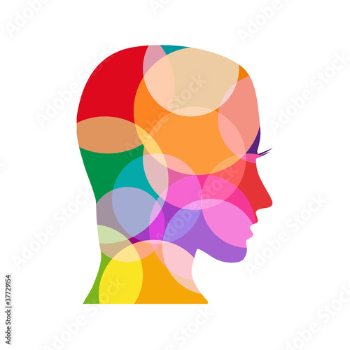 logo head colored # Vector