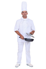 Chef with a frying pan