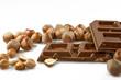 Milk chocolate with hazelnuts