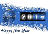 happy new year illustration with counter