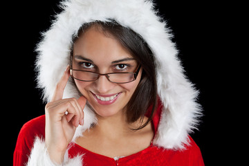 Christmas woman posing