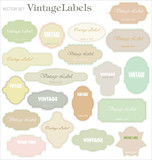 vector set: vintage labels