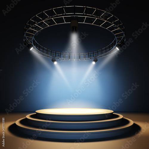 Empty stage.