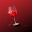 happy birthday - ein glas rotwein