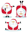 Santa Claus in different positions