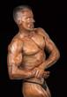 Musculatura sobre fondo negro.