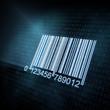 Pixeled barcode illustration