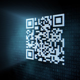 Pixeled QR code illustration